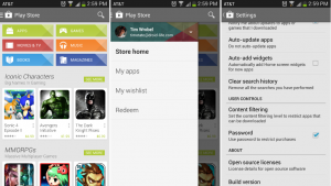 Google Play Store with slide-out navigation rolling out now
