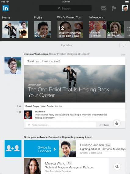 LinkedIn for iPad