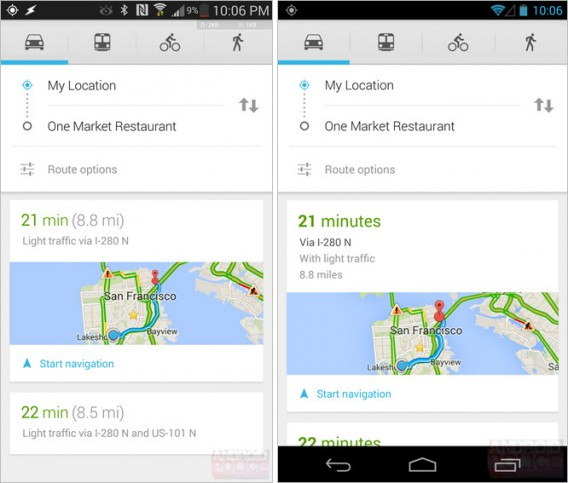 google maps 7.3 via android police