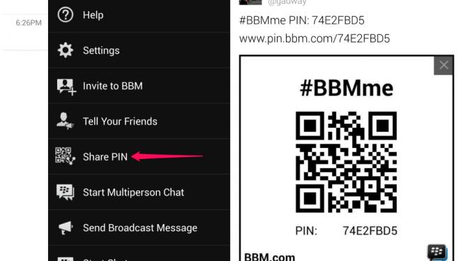 BBM PIN barcode