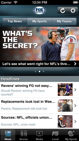 FOX Sports Mobile iOS
