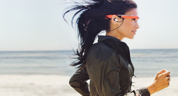 Google Glass music running