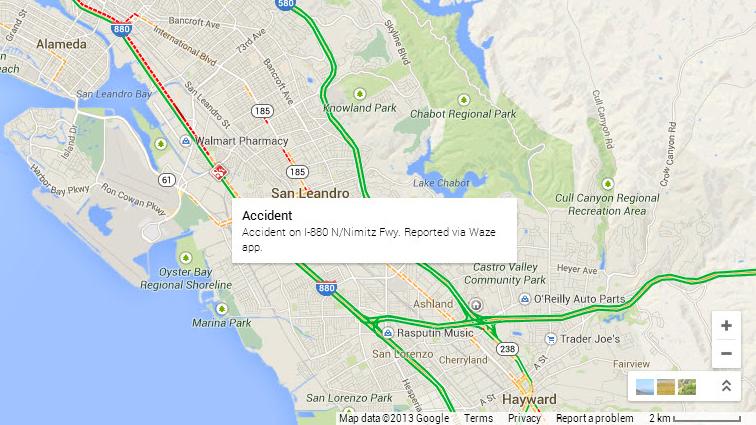 Waze integrated into desktop Google Maps on