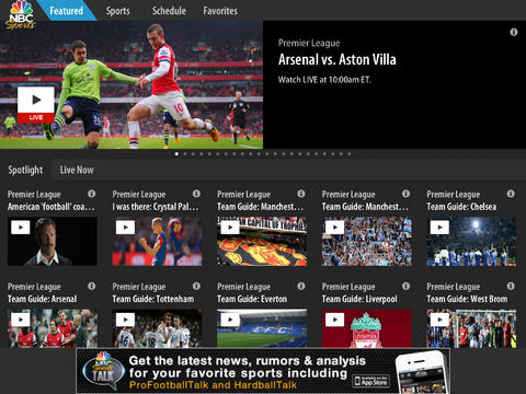 NBC Sports Live Extra iOS