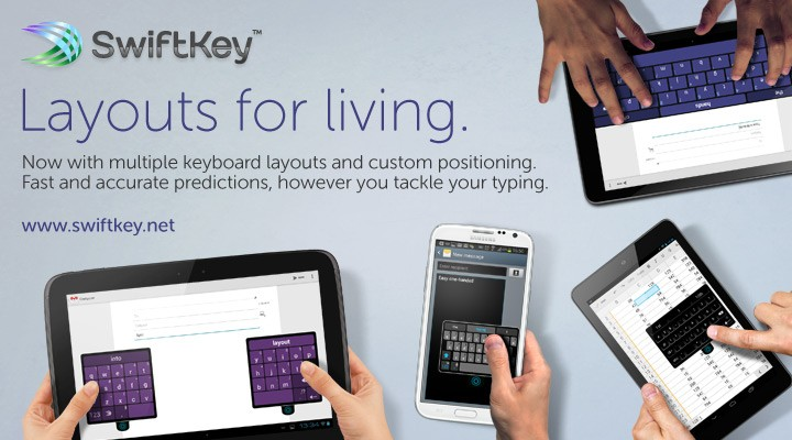 SwiftKey update features custom keyboards