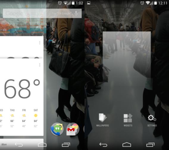 Android 4.4 KikKat: expérience plein écran