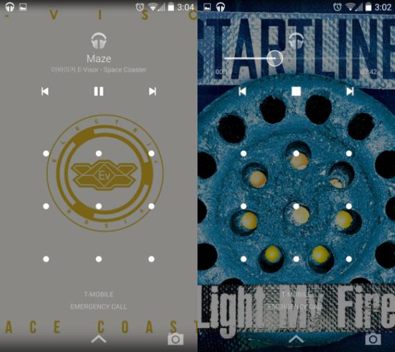 Android 4.4 KikKat : Contrôler les médias sur l'écran de verrouillage