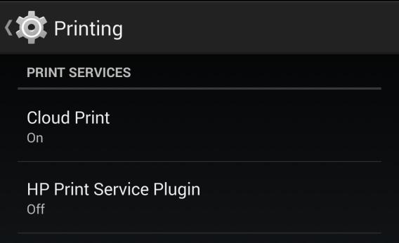 Android 4.4 KikKat : Impression sans fil