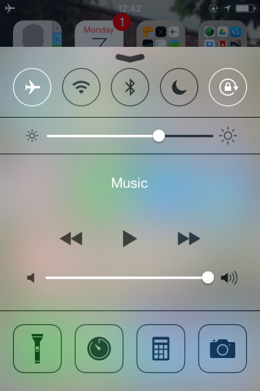 Control Center Airplane Mode
