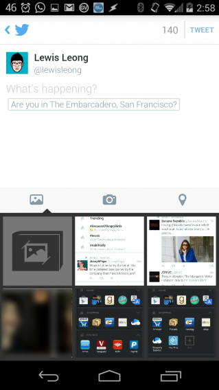 New Twitter compose screen