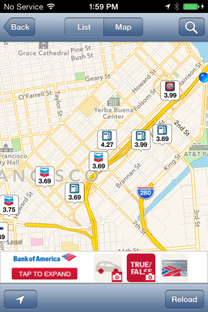 GasBuddy on iOS
