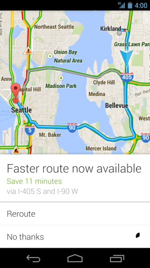 Google Navigation on Android