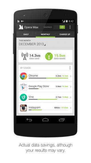 Opera Max Nexus 5