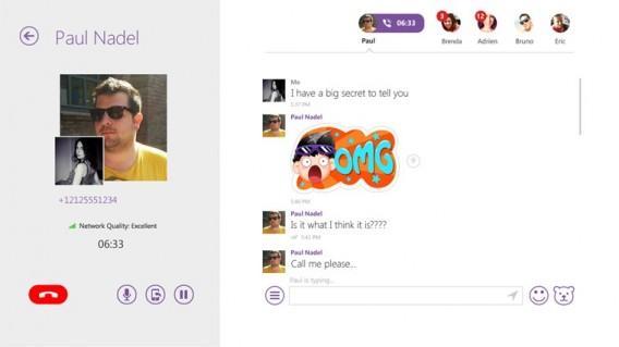Viber for Windows 8.1 stickers