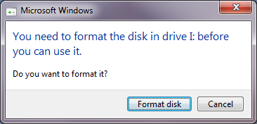 Format USB to use