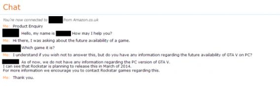 GTA V on PC - the Amazon UK chat