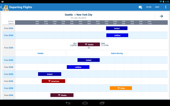 Hipmunk on Android