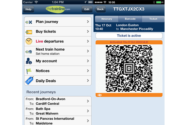 thetrainline for iPhone