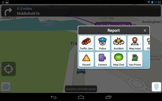 Waze on Android