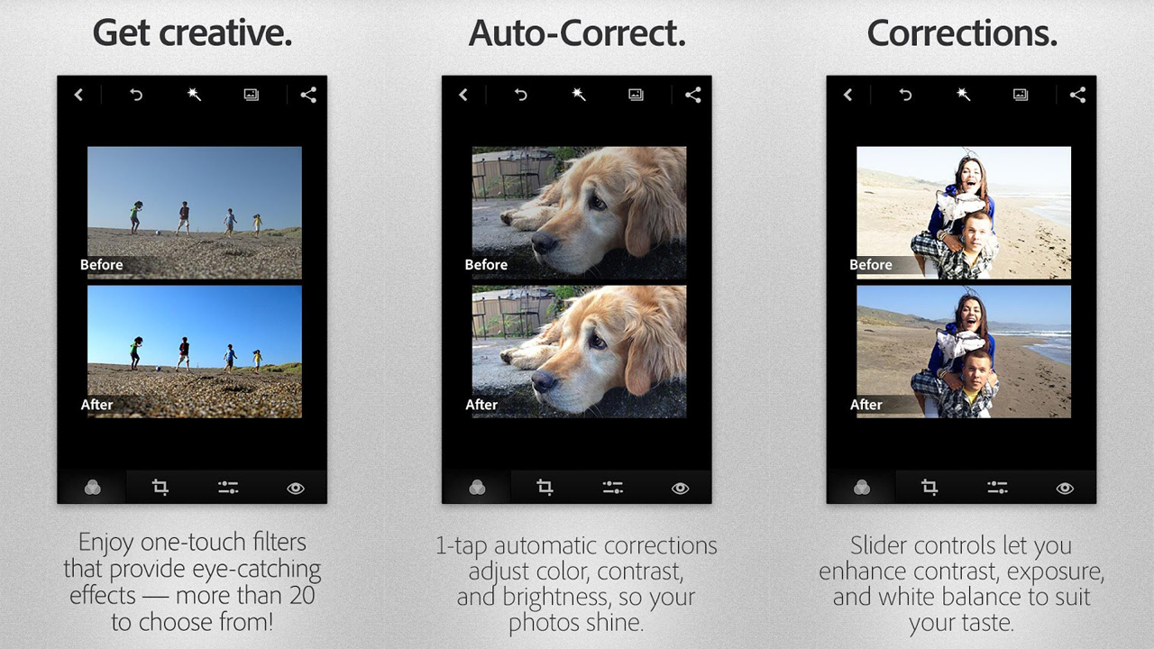 Adobe Photoshop Express for Android redesigned