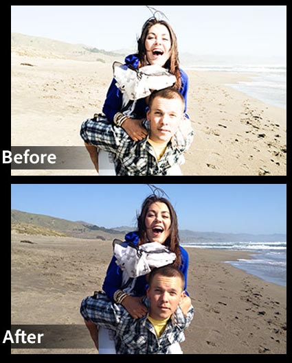 Before-and-after-beach-couple.-Photoshop-Express