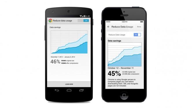 Chrome for mobile update header