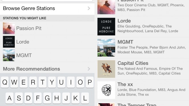 Pandora personalized recommendations