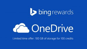 Get 100GB of OneDrive storage by using Bing Rewards