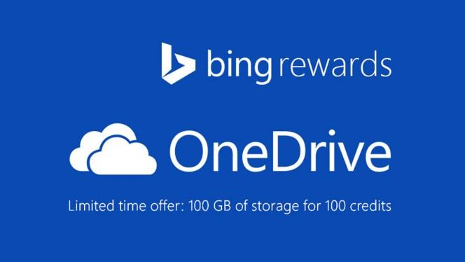 Bing Rewards OneDrive header
