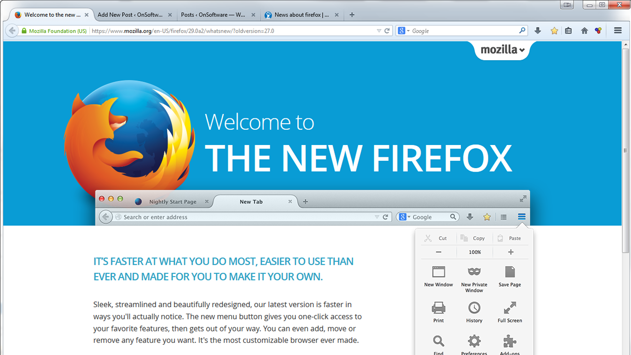 New Firefox design 'Australis' now available in pre-beta