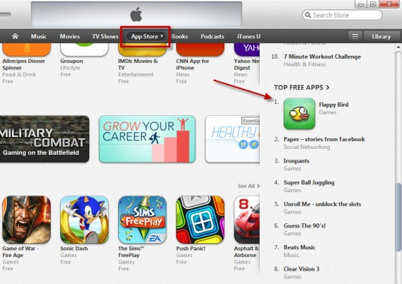 Go to the App Store and look for top apps