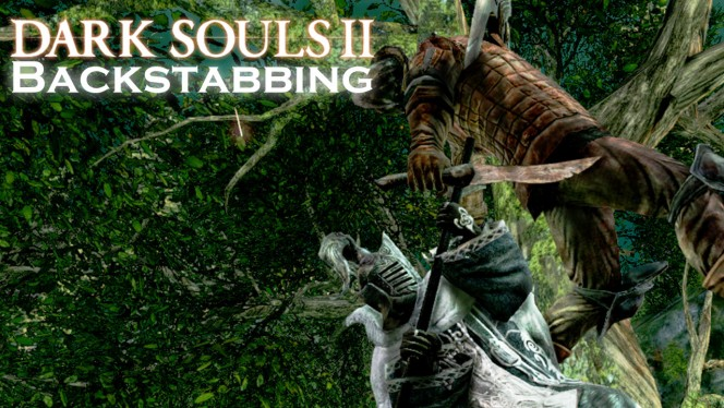 Avoid attacks from behind in Dark Souls II