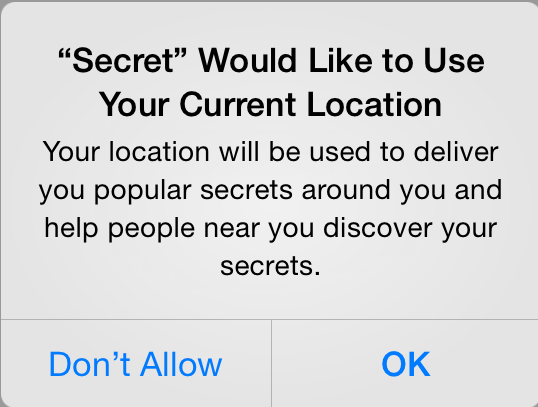 Secret location permission