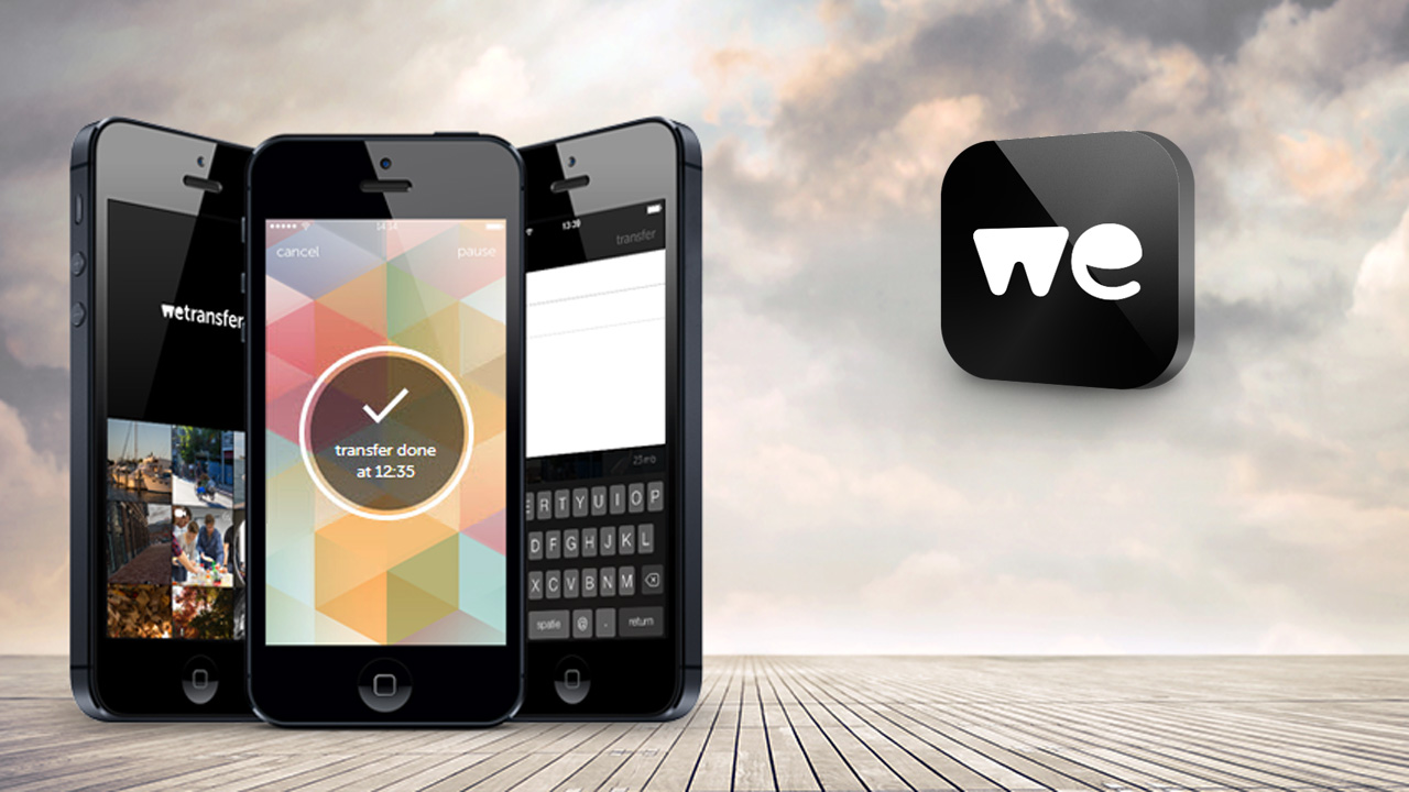 file wetransfer con iphone