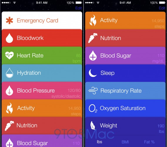 Healthbook - via 9to5Mac