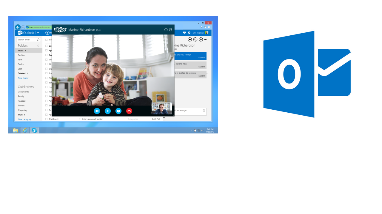 How to make video calls with Skype from Outlook.com