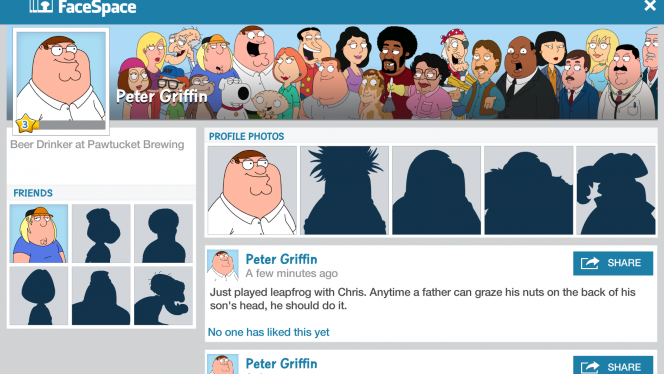 Family Guy The Quest for Stuff FaceSpace