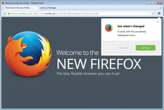 Firefox 29 redesign