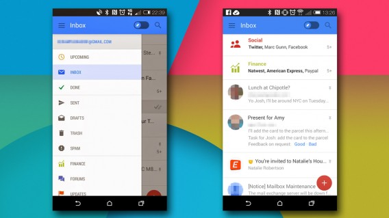 Gmail for Android leaked update header