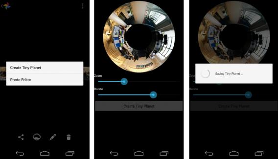 Tiny Planet, uma das funções da Câmera do Google