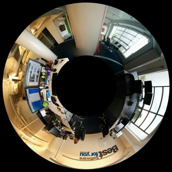 Panorama Tiny Planet, uma função da Câmera do Google