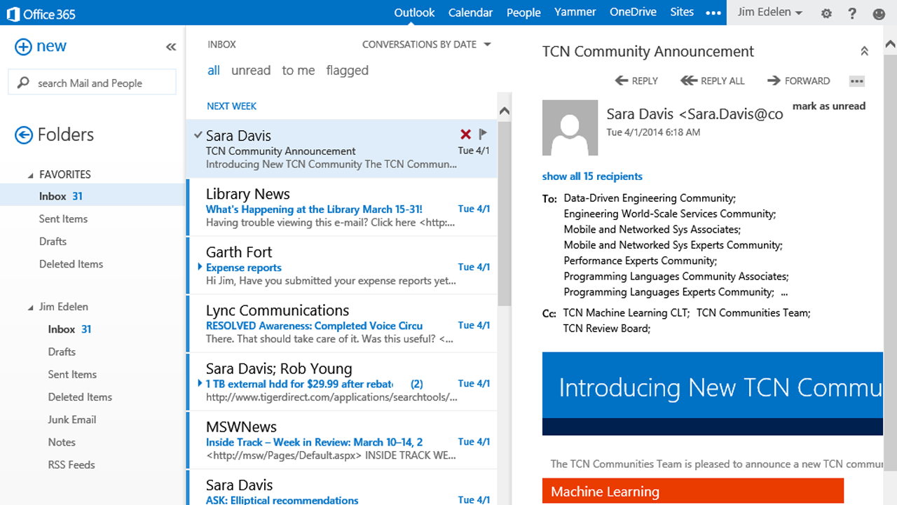 Microsoft wants to help clean your email with a new Outlook Web App tool