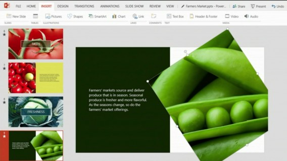 PowerPoint for touch images