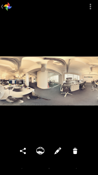 Google Camera finished Photo Sphere