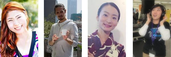 Yoko, Chris, Junko et Sayaka, nos éditeurs japonais