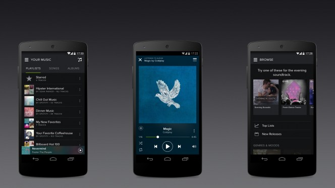 Spotify for Android dark theme update header