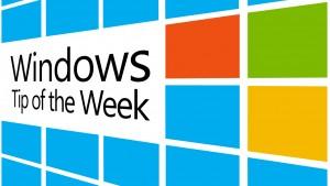 Windows Tip of the Week Series