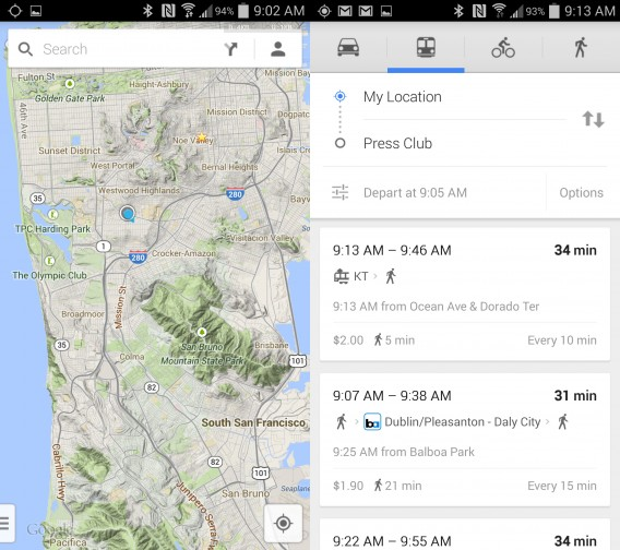 Google Maps Android via Android Police