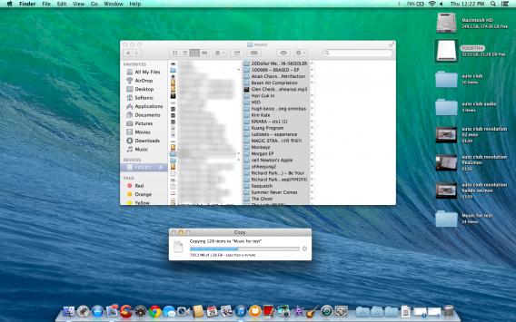 Mac OS X copy old music