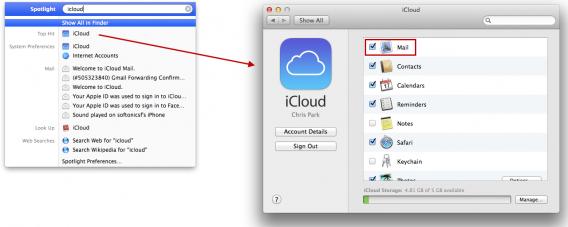 Mac OS X iCloud setup